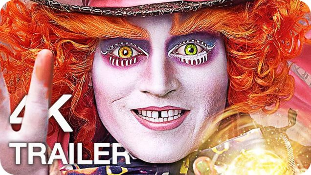 ALICE THROUGH THE LOOKING GLASS Trailer 1 & 2 4K UHD (2016) Disney Movie
