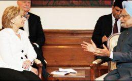 امریکی وزیر خارجہ ہلیری کلنٹن کی منموہن سنگھ سے ملاقات