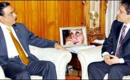کراچی : صدر زرداری سے گورنر سندھ عشرت العباد کی ملاقات