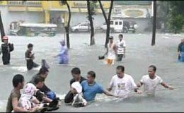 فلپائن:شدید بارشوں کے باعث مختلف حادثات میں 10افراد ہلاک