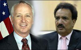 اسلام آباد : امریکی سفیر کی رحمان ملک سے ملاقات
