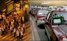چین میں ٹیکسی ڈرائیوروں کی ہڑتا ل جاری