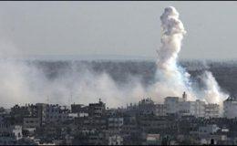اسرائیلی طیاروں کا غزہ کی پٹی پر فضائی حملہ