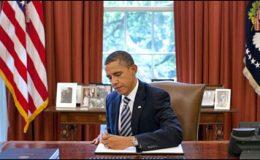 اوباما نے قرضے کی حد بڑھانے کے بل پر دستخط کردیئے