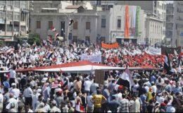 شام: پرامن مظاہرین پر تشدد، اٹلی نے سفیر واپس بلالیا