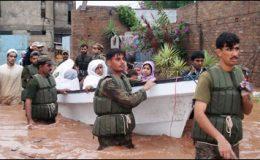 سندھ کے آفت زدہ علاقوں میں پاک فوج کی امدادی سرگرمیاں