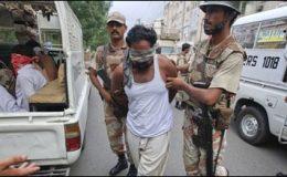 کراچی : رینجرز کا سرچ آپریشن، انتیس افراد گرفتار