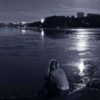 alone at beach