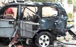 پشاور دھماکا: 2 امریکی مارے گئے: میاں افتخار، امریکی سفارتخانے کی تردید