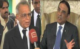 وسیم سجاد کی صدر زرداری سے ملاقات ، دو عہدوں سے متعلق کیس پر گفتگو