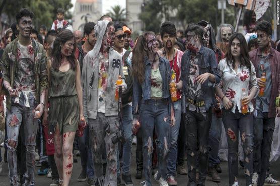 میکسیکو سٹی میں نواں سالانہ زومبی فیسٹیول شروع ہو گیا
