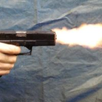Firing with Pistol