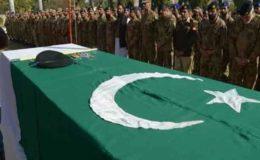 شمالی وزیرستان حملے میں شہید فوجی افسران کی نماز جنازہ ادا