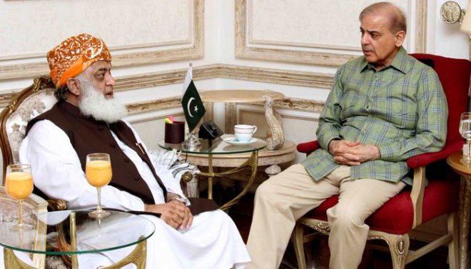 فضل الرحمان کی شہباز شریف سے ملاقات، 25 جولائی کو ملک بھر میں پاور شو کی تجویر