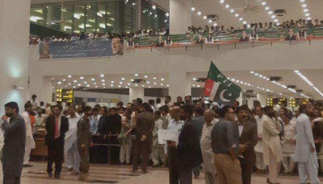 اسلام آباد میں دفعہ 144 کے باوجود اعظم سواتی کی قیادت میں پی ٹی آئی کی ریلی