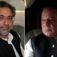 Shahid Khaqan Abbasi and Nawaz Sharif
