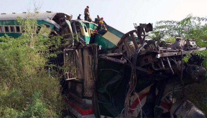 ٹرین حادثہ: جاں بحق افراد کی تعداد 24 ہو گئی، ٹرینوں کا شیڈول بری طرح متاثر