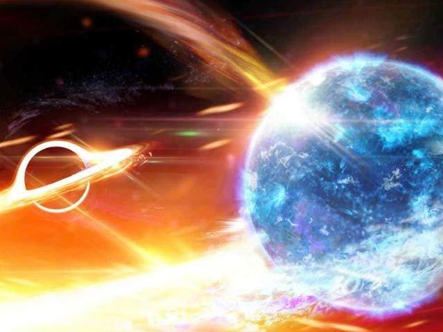 بلیک ہول اور نیوٹران ستارے کا پہلا نایاب نظارہ