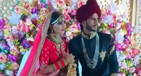 حسن علی بھارتی لڑکی سامعہ سے رشتہ ازواج میں منسلک
