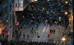 ہانگ کانگ میں حکومت مخالف مظاہرے بدستور جاری