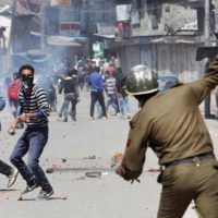 Kashmir Curfew Protest Indian Force