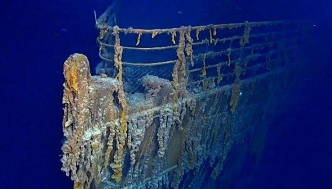 بحراوقیانوس میں غرق ٹائی ٹینک کی تازہ ترین ویڈیو جاری