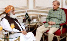 شہباز اور فضل الرحمان کی ملاقات، لاک ڈاؤن کی تاریخ مشترکہ طور پر طے کرنے کا اعلان