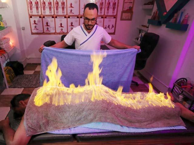 آگ کے مساج سے ہر درد کا علاج