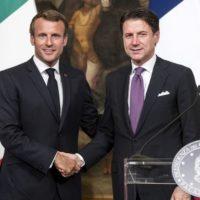 Giuseppe Conte and Emmanuel Macron