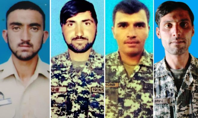 شمالی وزیرستان اور پاک افغان سرحد پر فائرنگ سے پاک فوج کے 4 جوان شہید