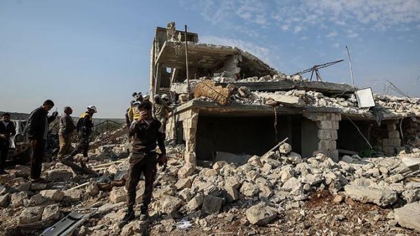 ادلیب پر روس اور اسد انتطامیہ کے حملوں کا سلسلہ بدستور جاری