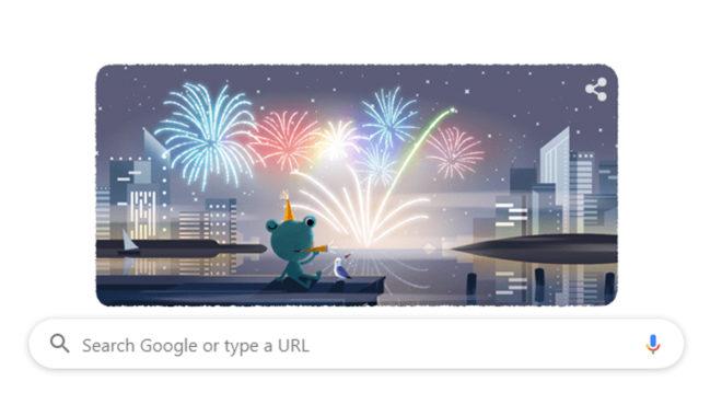 نئے سال کی آمد پر گوگل کا اپنے انداز میں جشن