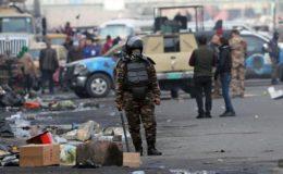 بغداد میں پر اسرار خاموشی میں مظاہرین کا دھرنا جاری