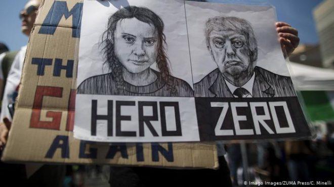 داووس فورم: نظریں صدر ٹرمپ اور گریٹا تھنبرگ پر
