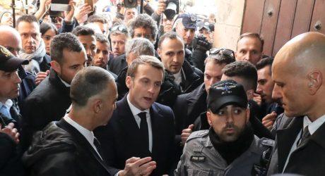 فرانسیسی صدر کی القدس آمد، اسرائیلی پولیس افسروں کو کھری کھری سنا دیں