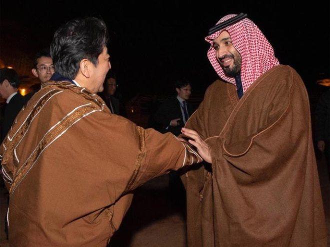 سعودی ولی عہد کی جاپانی وزیراعظم سے ملاقات