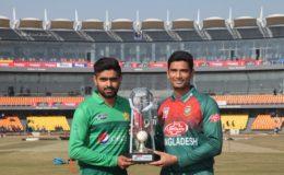 پاکستان اور بنگلادیش کے درمیان تیسرا ٹی ٹوئنٹی بارش کے باعث منسوخ