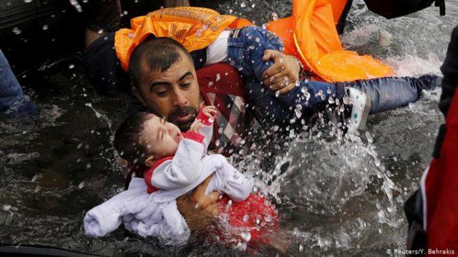 یورپ جانے کی کوشش میں بچوں سمیت گیارہ سمندر میں ڈوب کر ہلاک