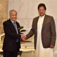 Mahathir Mohammad and Imran Khan
