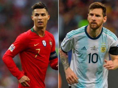 Messi and Cristiano Ronaldo