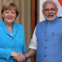 Angela Merkel and Narendra Modi