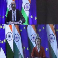 Modi, Michel And Von der Leyen