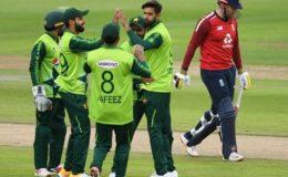 پاکستان اور انگلینڈ کا پہلا ٹی ٹوئنٹی میچ بارش کی نذر