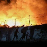 Greek Refugees - Camp Fire