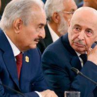 Khalifa Haftar and Aqila Saleh