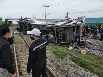 Bus and Train Collision