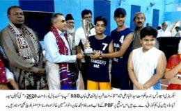 حیدرآباد ڈویژن نے قائد ملت شہید لیاقت علی خان SSB کپ باسکٹ بال ٹورنامنٹ جیت لیا