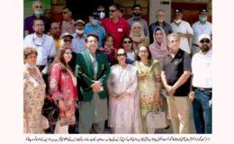 روٹری انٹر نیشنل کی ہدایت پر روٹری کلب کراچی کریک کی جانب سے گورنمنٹ اسکول بابا جزیرے کے لئے کمپیوٹر لیب کا عطیہ
