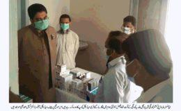 بلدیہ کورنگی کے تحت شاہ فیصل میٹرنٹی ہوم میں میڈیکل کیمپ کا انعقاد