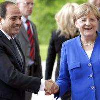 Abdel Fattah al-Sisi - Angela Merkel